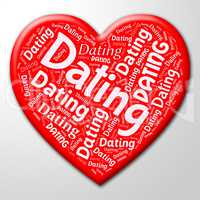 Dating Heart Means Internet Date And Sweetheart