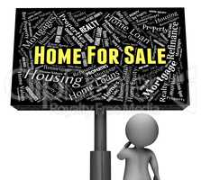 Home For Sale Shows Property Market And Properties