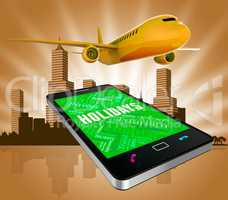 Holidays Online Shows Web Site And Aircraft