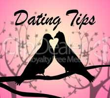 Dating Tips Represents Date Relationship And Hint