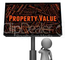 Property Value Indicates Current Prices And Charge