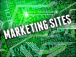 Marketing Sites Shows Search Engine And Ecommerce
