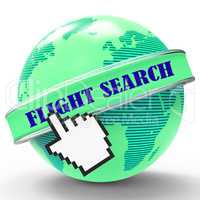 Flight Search Shows Flights Research And Researcher