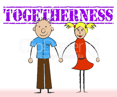 Togetherness Couple Indicates Partners Relations And Partner