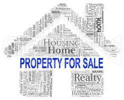 Property For Sale Shows Real Estate And Display