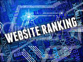 Website Ranking Shows Marketing Optimization And Online