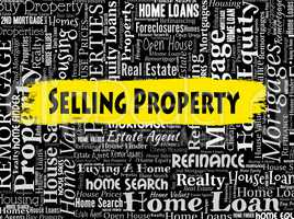 Selling Property Indicates Marketing Habitation And Offices