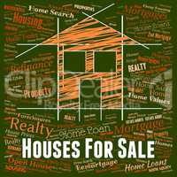 Houses For Sale Shows On Market And Home