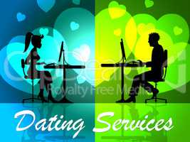 Dating Services Shows Web Site And Business
