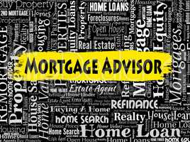 Mortgage Advisor Indicates Real Estate And Advice