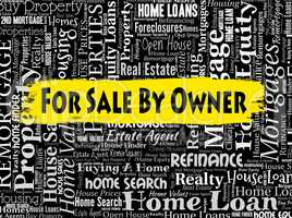 Sale By Owner Indicates On Market And Display