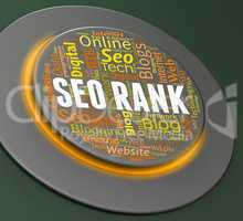 Seo Rank Indicates Search Engine And Keyword