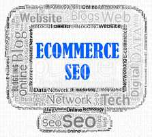 Ecommerce Seo Represents Search Engines And Computer
