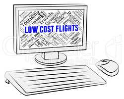 Low Cost Flights Indicates Airplane Aircraft And Fly