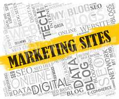 Marketing Sites Indicates Search Engine And Ecommerce