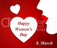 Womens Day Represents Females Lady And Ladies