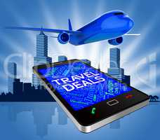 Travel Deals Indicates Trips Getaway And Airplane