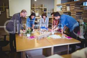 Business people planning at table during meeting