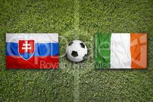 Slovakia vs. Ireland flags on soccer field