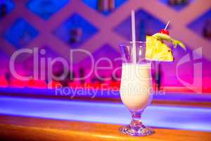 Drink on counter in nightclub