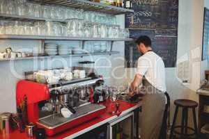 Barista working at cafe