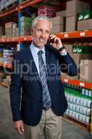 Business man calling on the phone