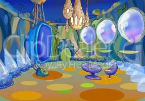 Alien Spaceship Interior. Image Two