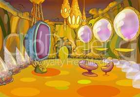 Alien Spaceship Interior. Image Three