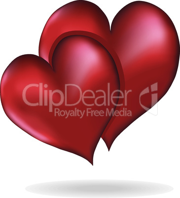 Hearts symbol of love vector element design Valentine's Day isolated on white