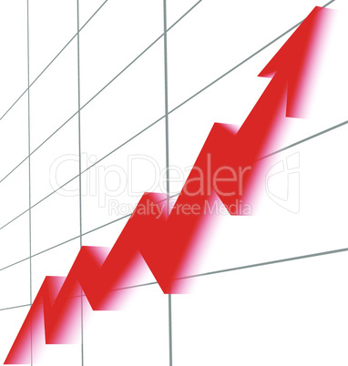 red graph growing right up to the table