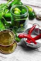 Preserving fresh cucumbers