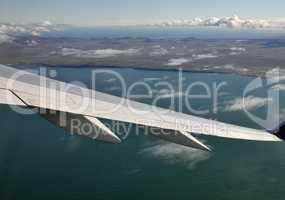 Flug über Island
