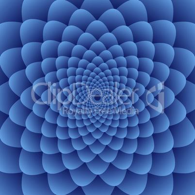 Geometric circular flower background, vector illustration.