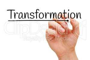 Transformation Hand Black Marker