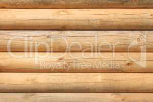Parallel new wooden logs