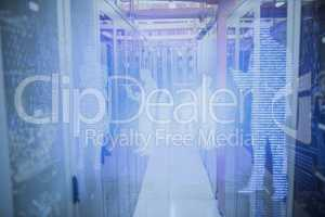 Composite image of image of data center