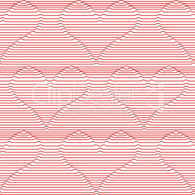 Heart love seamless valentines day line vector background for wallpaper, pattern fills, web page, surface textures.