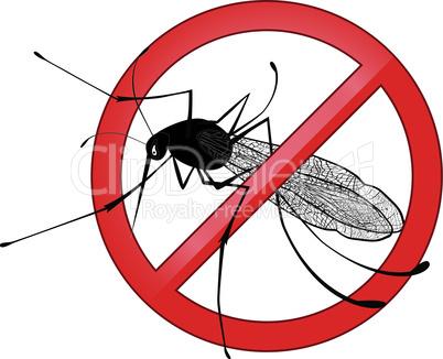 No mosquito gnat insect vector sign. Carry many disease such as dengue fever, zika virus, yellow fever, chikungunya disease, filariasis, malaria , enchaphalitits.
