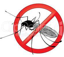 No mosquito gnat insect vector sign.