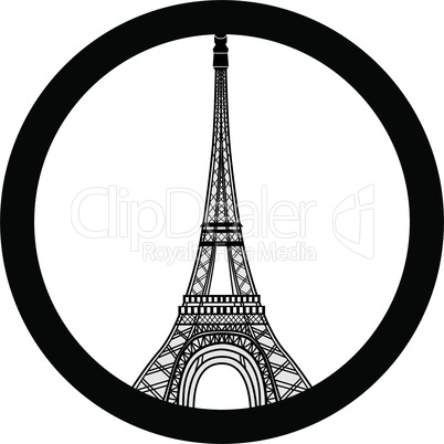 Peace for Paris symbol Eiffel Tower. Pray for the victims of terrorism attack vector.