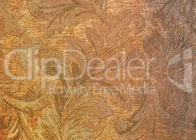 Horizontal flora textured wall background