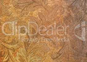 Horizontal flora textured wall background