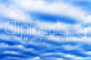 Horizontal high altitude cloudscape background