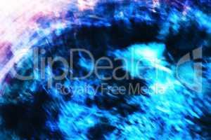 Horizontal vivid blue purple motion blur abstraction
