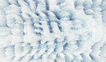 Horizontal pixel cube winter extruded map background