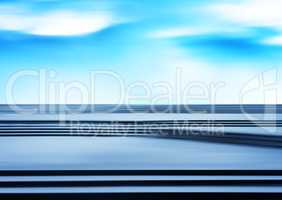 Horizontal blank empty pure white dramatic stairs business abstr