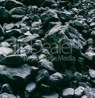 Square pale dark rock stones background backdrop