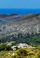 Vertical vivid Crete valley  landscape background