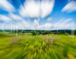 Countryside summer vivid motion abstraction
