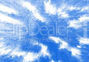 Pale blue white extruded dotted cubes business digital abstracti